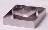 Набір 3 квадратні форми Kamille для викладки гарніру 10см, 15см, 20см