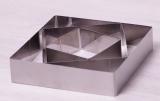 Набор 3 квадратные формы Kamille для выкладки гарнира 10см, 15см, 20см