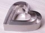 Набор 3 формы Kamille Сердце для выкладки гарнира 10х10см, 15х15см, 20х20см