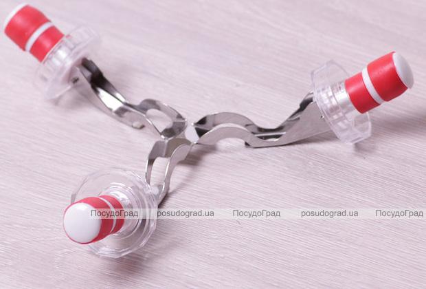 Набор 3 пробки для бутылок с открывалками Kamille, пластик+нержавейка