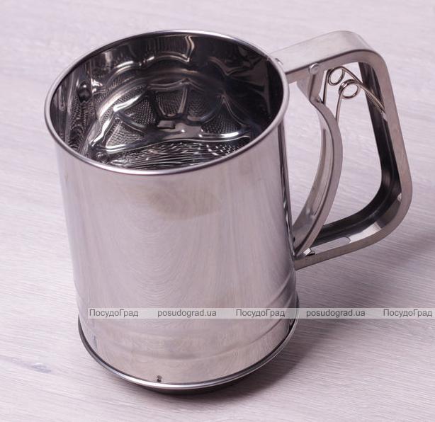 Кружка-сито Kamille с тройным просевом Ø10см для сыпучих продуктов