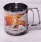 Кружка-сито Kamille с двойным просевом Ø10см для сыпучих продуктов