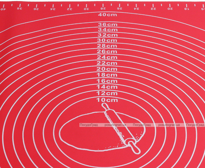 Коврик силиконовый Kamille Vincennes 60х45см с разметкой для раскатки теста и выпечки