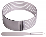 Форма Kamille для нарізки бісквіта 15-22см, регульована з ножем
