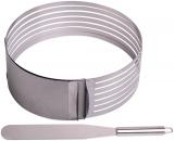Форма Kamille для нарізки бісквіта 24.5-30см, регульована з ножем