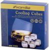 Камни для виски Kamille 2.7х2.7см 6шт, охладительные кубики из нержавеющей стали