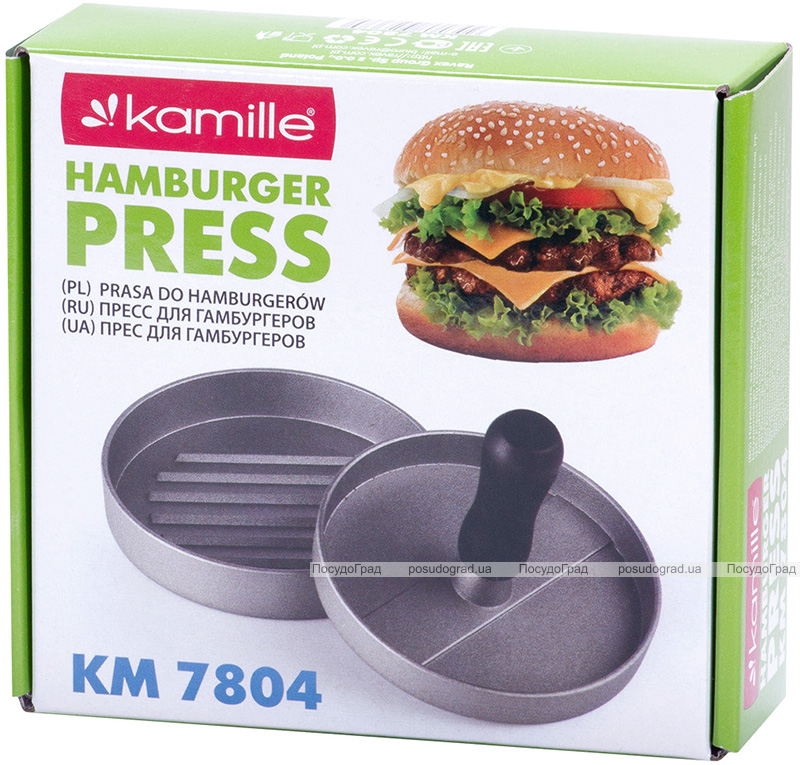 Прес Kamille для гамбургера Ø12см з антипригарним покриттям