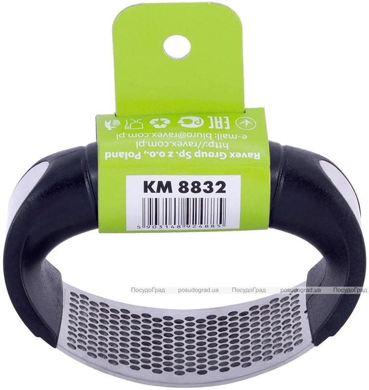 Пресс для чеснока Kamille 10.8х5.2х7см из нержавеющей стали с пластиковой ручкой