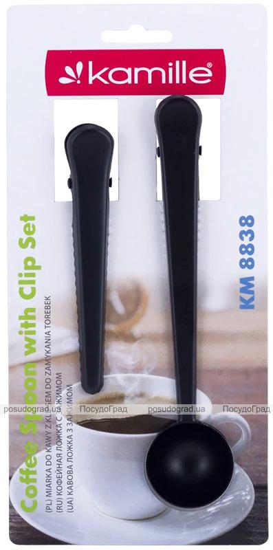 Мерная ложка Kamille 20мл с зажимом + прищепка-зажим
