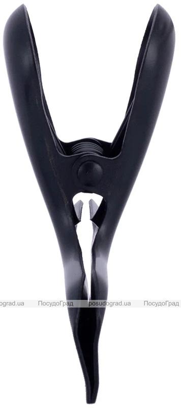 Набор 2 зажима Kamille для пакетов 7.8х3х6.5см, нержавеющая сталь с пластиковой накладкой