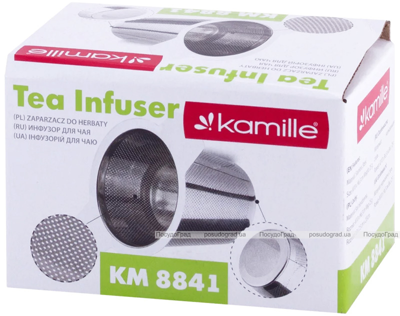 Ситечко Kamille для заваривания чая 10х6.5см из нержавеющей стали