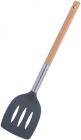Лопатка Kamille Chantal 35см нейлонова з прорізами, з дерев'яною ручкою
