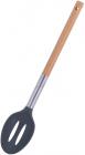 Ложка кухарська Kamille Chantal 32см з прорізами нейлонова з дерев'яною ручкою