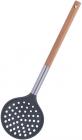 Шумовка Kamille Chantal 35см нейлоновая с деревянной ручкой