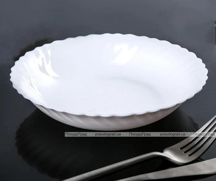 Набор 8 низких салатников Luminarc Feston Ø18см, стеклокерамика