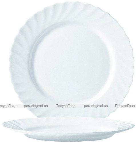 Обеденная тарелка Luminarc Trianon White Ø24.5см, стеклокерамическая