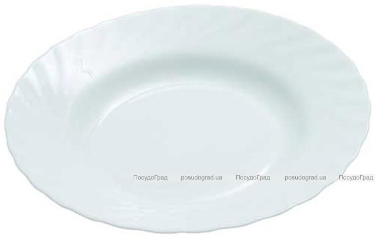 Суповая тарелка Luminarc Trianon White Ø23см, стеклокерамическая