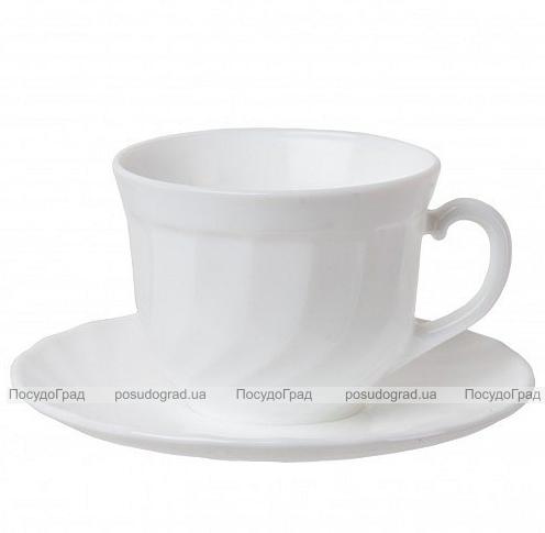 Набор чашек для чая Luminarc Trianon White 280мл на 4 персоны