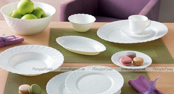 Набір 4 овальних блюда Luminarc Trianon White 29см, склокераміка