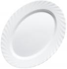 Набор 4 овальных блюда Luminarc Trianon White 29см, стеклокерамика