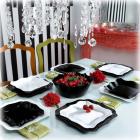 Столовий сервіз Luminarc Authentic Black&White на 6 персон 19 предметів
