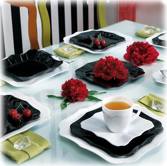 Столовый сервиз Luminarc Authentic Black&White на 6 персон 30 предметов
