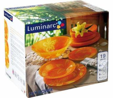Столовый сервиз Luminarc Lily Flower на 6 персон 18 предметов