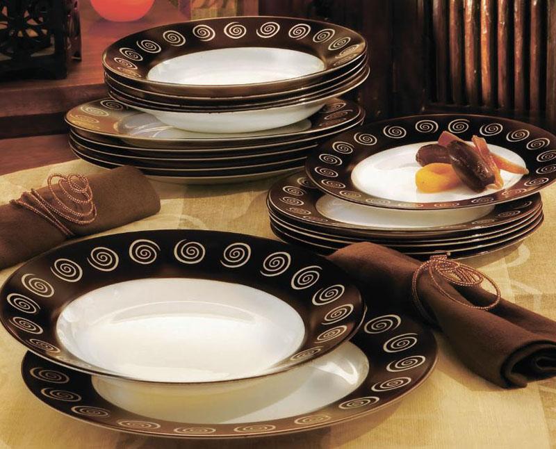 Столовый сервиз Luminarc Sirocco Brown на 6 персон 18 предметов