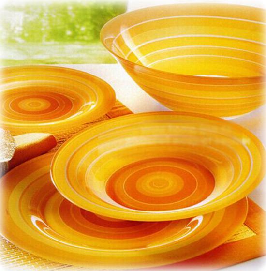 Столовый сервиз Luminarc Rainbow Orange на 6 персон 19 предметов