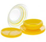 Столовий сервіз Luminarc Arty Yellow на 6 персон 19 предметів