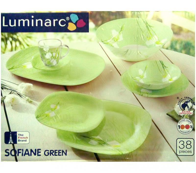 Столовый сервиз Luminarc Aime Carina Sofian Green на 6 персон 38 предметов