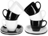 Чайный сервиз Luminarc Carine Black&White 6 чашек 220мл и 6 блюдец