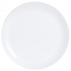 Набір 6 обідніх тарілок Luminarc Diwali White Ø25см, склокераміка