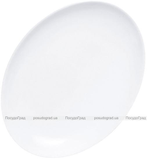 Набор 12 овальных блюд Luminarc Diwali White 33х25см, стеклокерамика