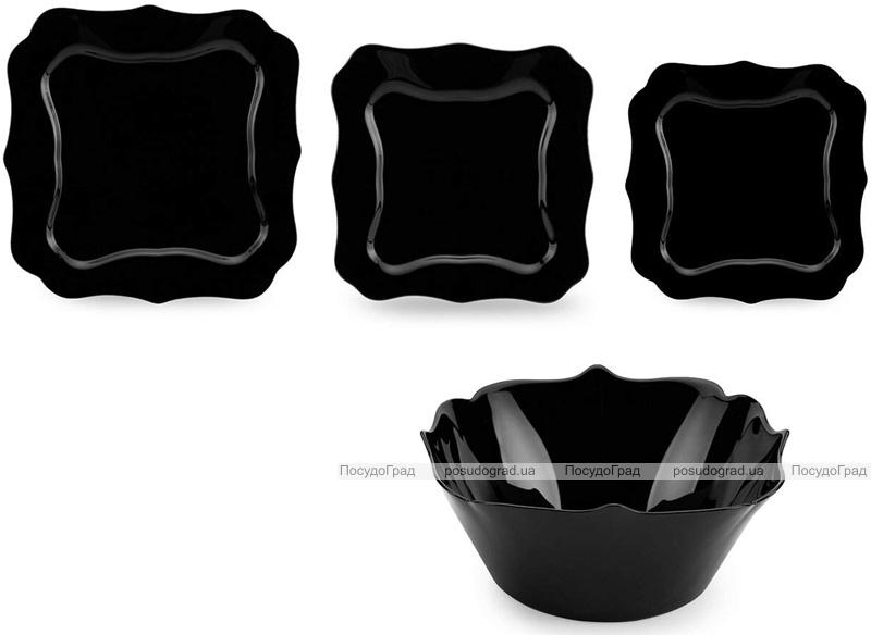 Столовый сервиз Luminarc Authentic Black на 6 персон 19 предметов