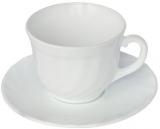 Набір чашок для чаю Luminarc Trianon White 220мл на 6 персон, склокераміка