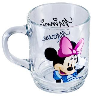 Кружка детская Minnie Mouse стеклянная 250мл для девочки