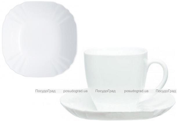 Чайный сервиз Luminarc Lotusia White на 6 персон, стеклокерамика