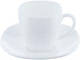 Чайний сервіз Luminarc Lotusia White на 6 персон, склокераміка