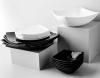 Набор 6 квадратных суповых тарелок Luminarc Quadrato Black 20см, стеклокерамика