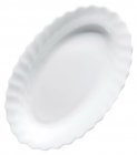 Набор 6 блюд для рыбы Luminarc Trianon White 26см, стеклокерамика