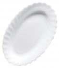 Набір 6 блюд для риби Luminarc Trianon White 26см, склокераміка