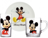 Детский набор Luminarc Mickey Mouse 3 предмета: кружка, стакан, тарелка для мальчика