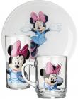 Детский набор Luminarc Minnie Mouse 3 предмета: кружка, стакан, тарелка для девочки