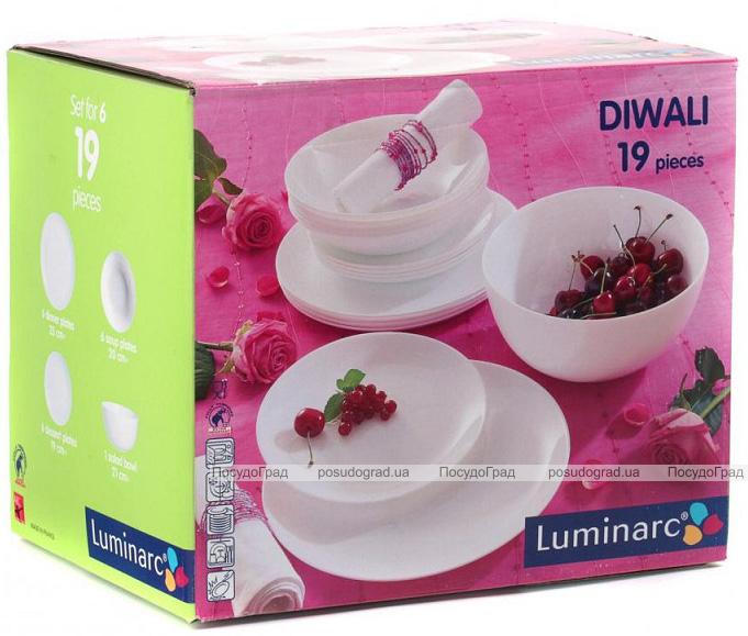 Столовый сервиз Luminarc Diwali на 6 персон 19 предметов