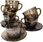 Чайний набір Luminarc Ocean Eclipse 6 чашок 220мл і 6 блюдець