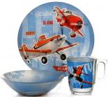 Детский набор Luminarc Disney Planes 3 предмета: пиала, кружка, тарелка