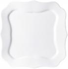 Набор 6 обеденных тарелок Luminarc Authentic White, квадратные 26см