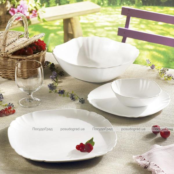 Набор салатников Luminarc Lotusia White 1х25см, 4х16.5см, стеклокерамика