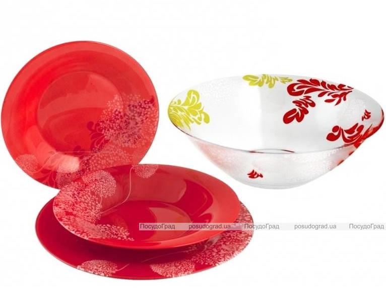 Столовый сервиз Luminarc Piume Red на 6 персон 19 предметов
